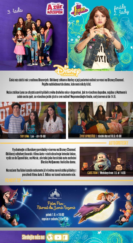 novinky na Disney Channel červen 2018